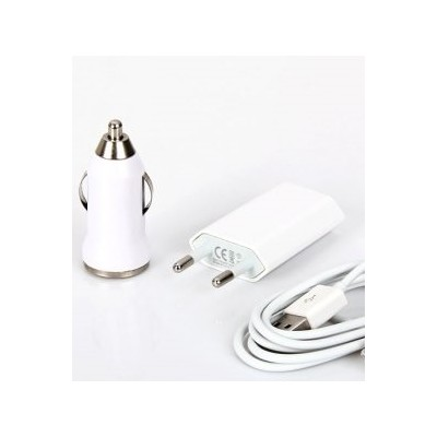 3 in 1 Charging Kit for Lava Iris X8 with USB Wall Charger, Car Charger & USB Data Cable