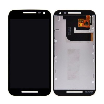 Lcd With Touch Screen For Motorola Moto G Turbo Black By - Maxbhi Com
