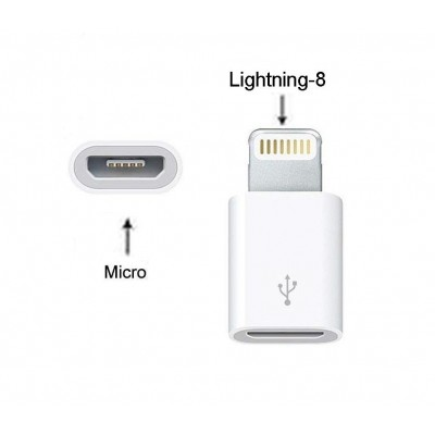 Micro Usb To 8 Pin Lightning Converter For Apple Ipad 4 - Maxbhi Com