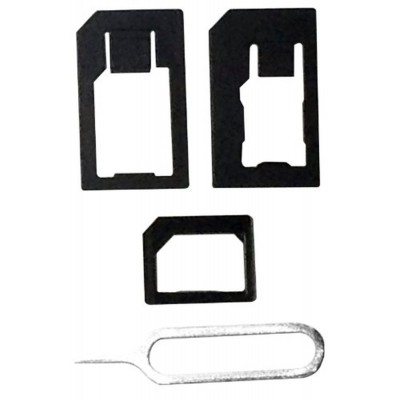 Sim Adapter For Apple iPhone Micro Sim to Regular Sim With Ejector Pin