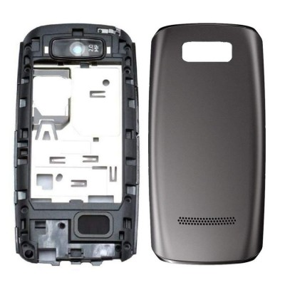 Full Body Housing For Nokia Asha 305 Black - Maxbhi Com