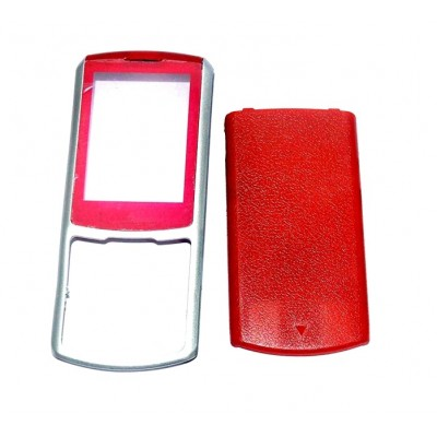 Full Body Housing For Samsung S3310 Red Silver - Maxbhi Com