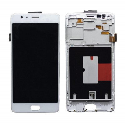 Lcd With Touch Screen For Oneplus 3t White By - Maxbhi Com