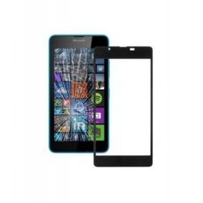 Replacement Front Glass For Microsoft Lumia 540 Dual Sim Black By - Maxbhi.com
