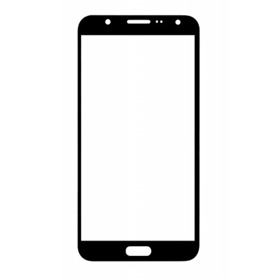 Replacement Front Glass For Samsung Galaxy J7 Max Black By - Maxbhi.com