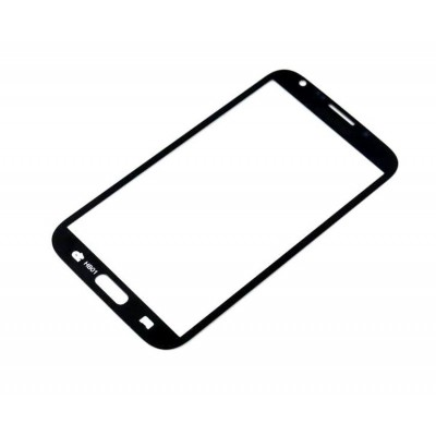 Glass For Samsung Note 2 N7100 Black - Maxbhi Com