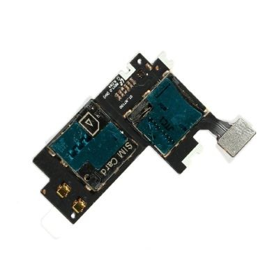 Mmc Connector With Sim Card Slot Flex Cable For Samsung Galaxy Note Ii 2 N7100maxbhi Com