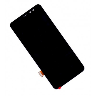 Lcd With Touch Screen For Samsung Galaxy A8 Plus 2018 Black By - Maxbhi Com