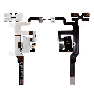 Volume Key Flex Cable For Apple Iphone 4s Black - Maxbhi Com