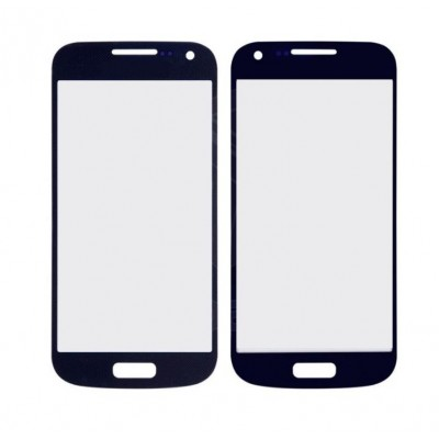 Replacement Front Glass For Samsung I9192 Galaxy S4 Mini With Dual Sim Blue By - Maxbhi Com