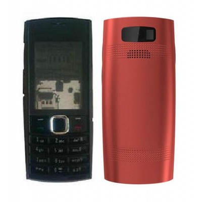 Full Body Housing For Nokia X202 Red - Maxbhi Com