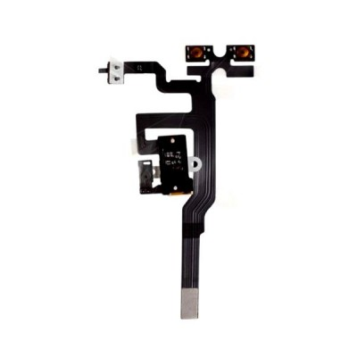 Volume Key Flex Cable For Apple Iphone 4s Black - Maxbhi Com