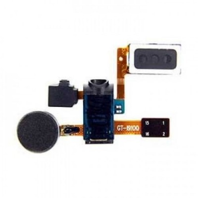 Speaker Headphone Jack Microphone Vibrator Flex cable for Samsung i9100 Galaxy S2