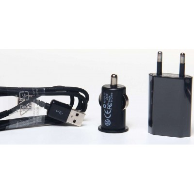 3 in 1 Charging Kit for LG L60 Dual X147 with USB Wall Charger, Car Charger & USB Data Cable