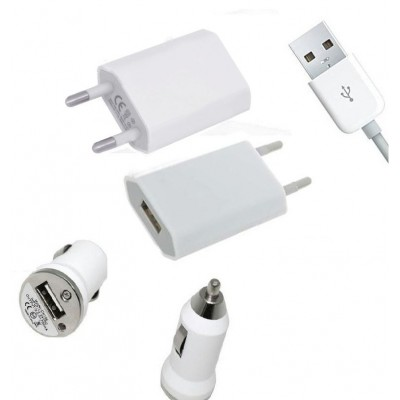 3 in 1 Charging Kit for Asus Zenfone 2 ZE551ML with USB Wall Charger, Car Charger & USB Data Cable