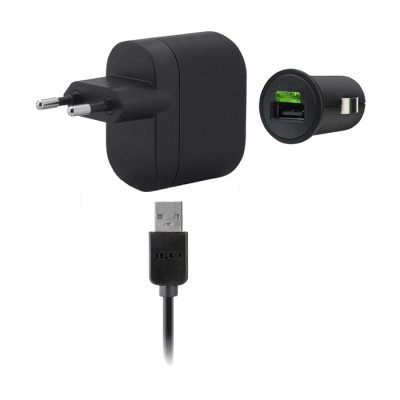 3 in 1 Charging Kit for Micromax A102 Canvas Doodle 3 with USB Wall Charger, Car Charger & USB Data Cable