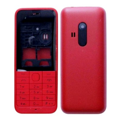 Housing For Nokia 220 Dual Sim Rm969 Red - Maxbhi.com