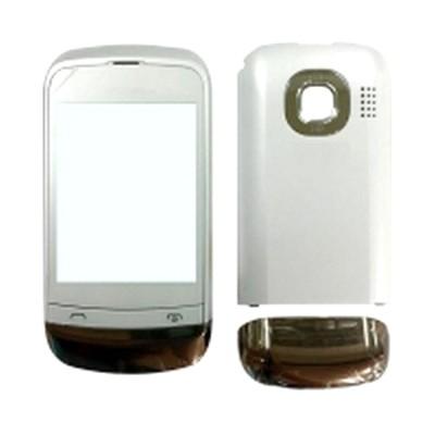 Housing For Nokia C202 Touch And Type Golden White - Maxbhi Com