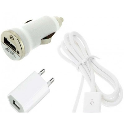 3 in 1 Charging Kit for Samsung Galaxy E5 SM-E500F with USB Wall Charger, Car Charger & USB Data Cable