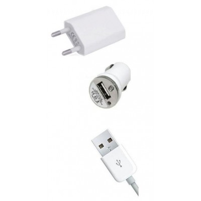 3 in 1 Charging Kit for Xiaomi Mi Note with USB Wall Charger, Car Charger & USB Data Cable