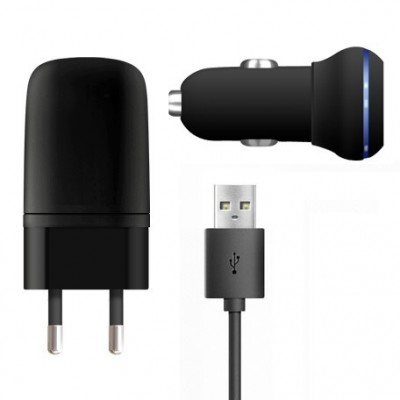 3 in 1 Charging Kit for Xiaomi Redmi Note 4G with USB Wall Charger, Car Charger & USB Data Cable