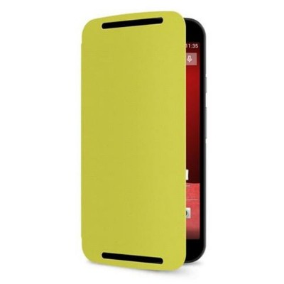 Flip Cover for Motorola Moto G (2nd Gen) - Lemon Green