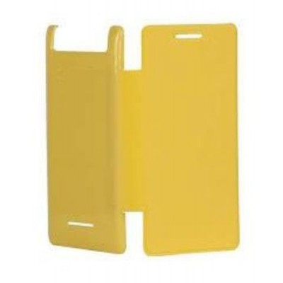 Flip Cover for XOLO A500S - Yellow