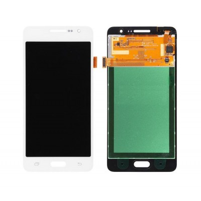 Lcd With Touch Screen For Samsung Galaxy Grand Prime Smg530h White By - Maxbhi Com
