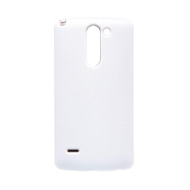 new style e70b5 9abdb Back Panel Cover for LG G3 Stylus D690 - White