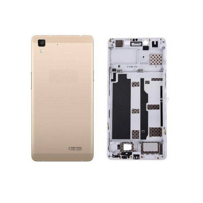new style abbc5 7a319 Flip Cover for Oppo R7 Lite - Golden