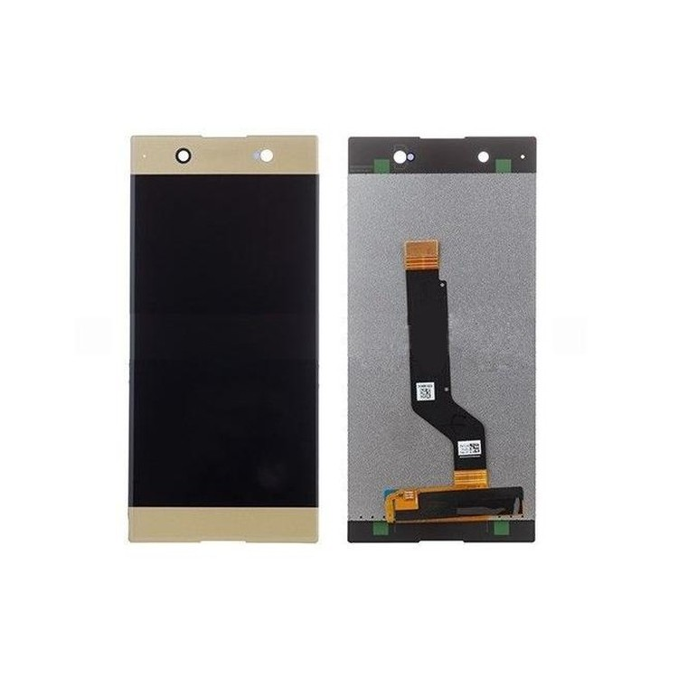 LCD with Touch Screen for Sony Xperia XA1 - Gold (display glass combo  folder)
