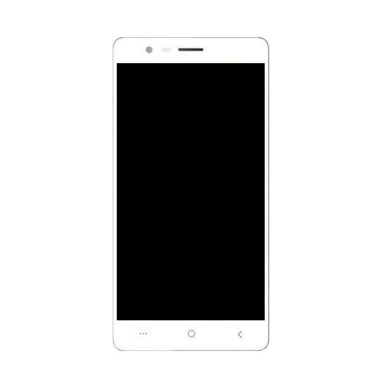 LCD with Touch Screen for Lephone W7 Plus - Gold (display glass combo  folder)
