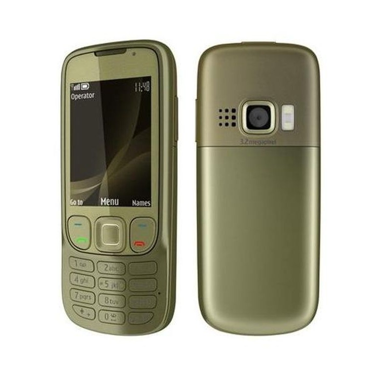 full body housing for nokia 6303i classic khaki gold. Black Bedroom Furniture Sets. Home Design Ideas