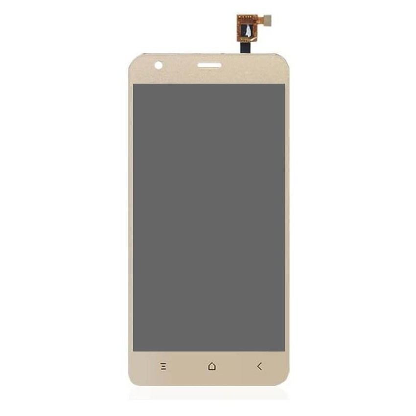 LCD with Touch Screen for Blackview A7 Pro - Gold (display glass combo  folder)