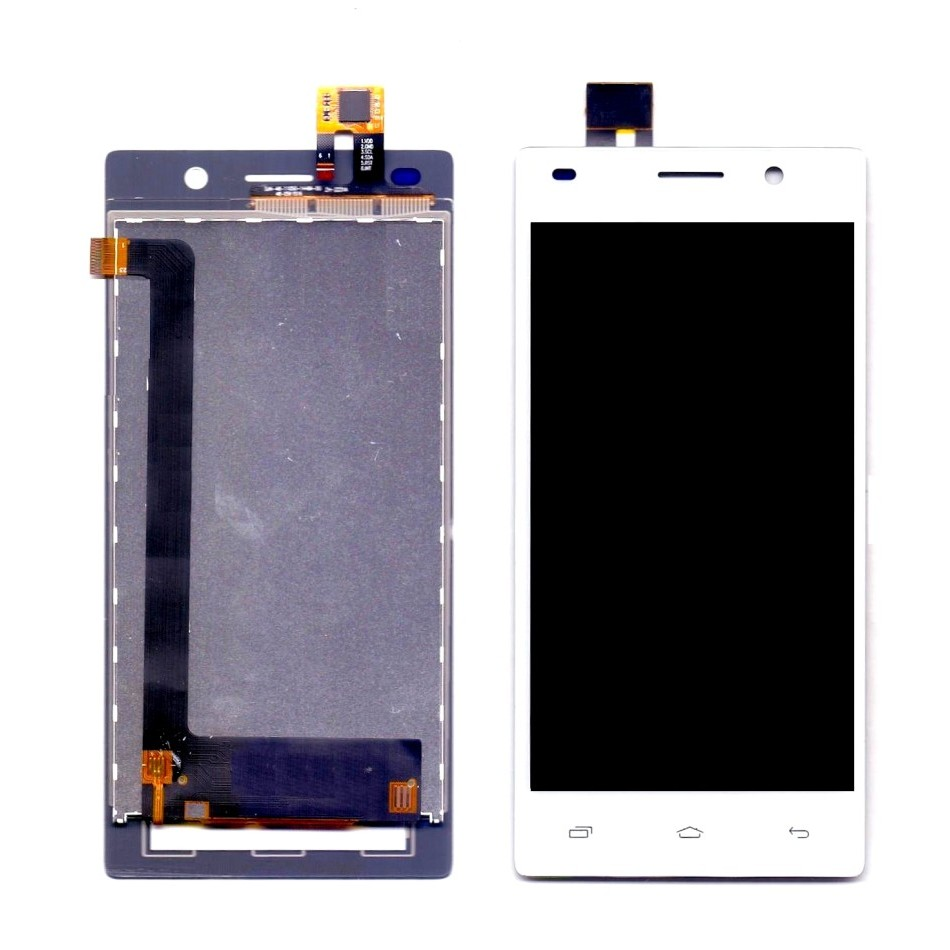 LCD with Touch Screen for Intex Aqua Power Plus - White (display glass  combo folder)