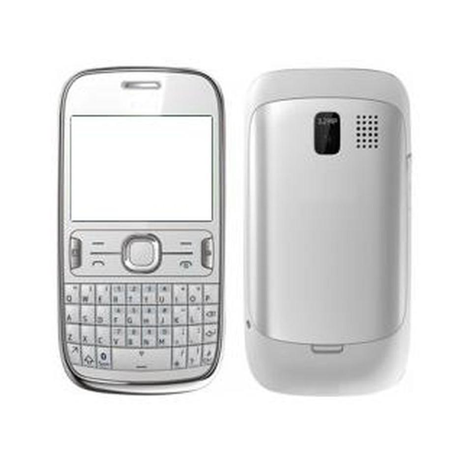 new product db84a c9842 Full Body Housing for Nokia Asha 302 - White