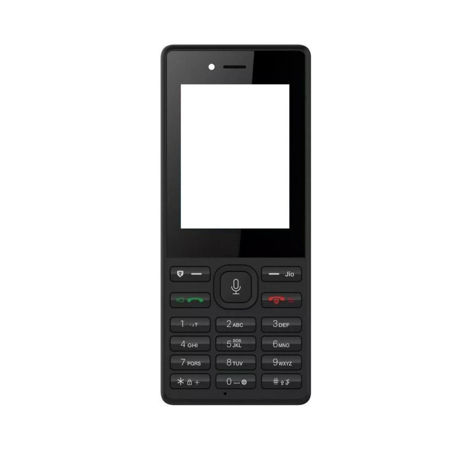 low priced 3a940 50439 Full Body Housing for Reliance JioPhone - Black