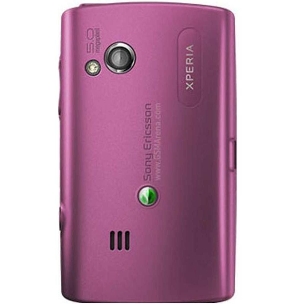 Back Panel Cover for Tata Docomo Sony Ericsson Xperia X10 Mini - Red
