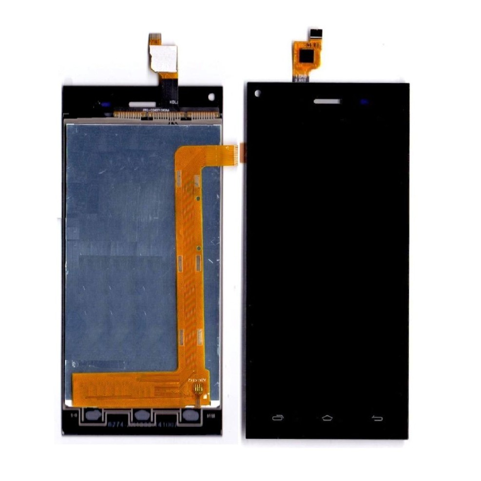 low priced fa078 fb889 LCD with Touch Screen for XOLO Q600s - Black (display glass combo folder)